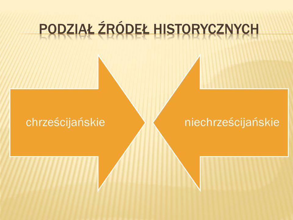 Podział źródeł historycznych
