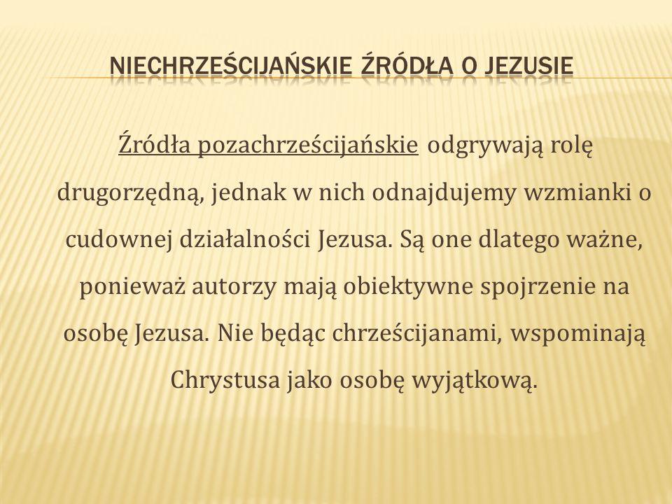 Niechrześcijańskie źródła o Jezusie
