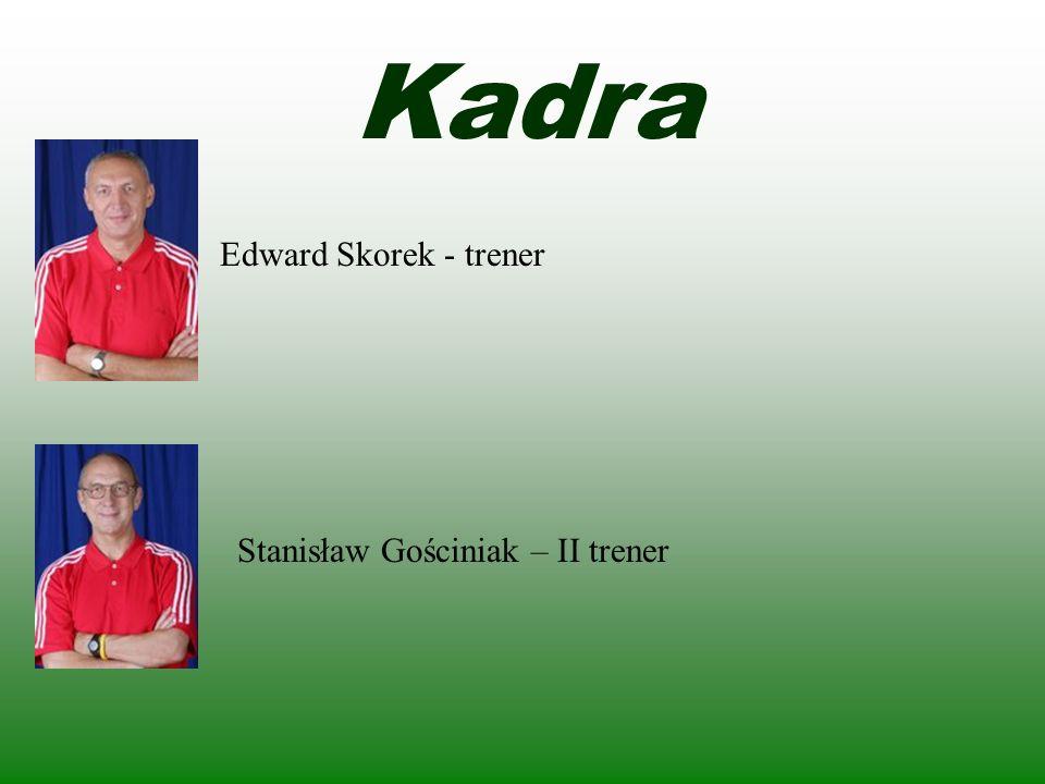 Kadra Edward Skorek - trener Stanisław Gościniak – II trener