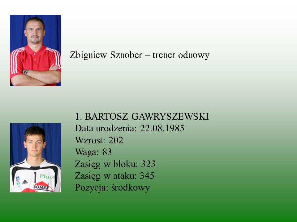 Zbigniew Sznober – trener odnowy