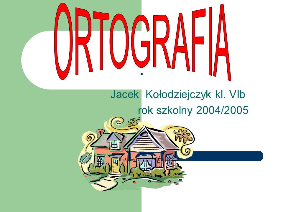 Jacek Kołodziejczyk kl. VIb rok szkolny 2004/2005