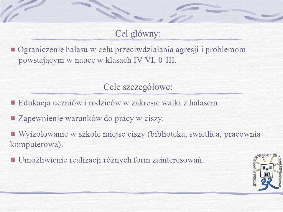 Cel główny: Cele szczegółowe:
