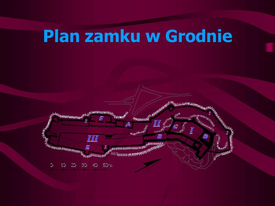 Plan zamku w Grodnie