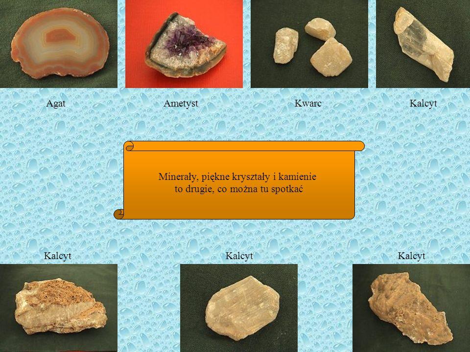 Minerały, piękne kryształy i kamienie to drugie, co można tu spotkać