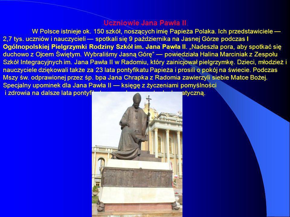 Uczniowie Jana Pawła II