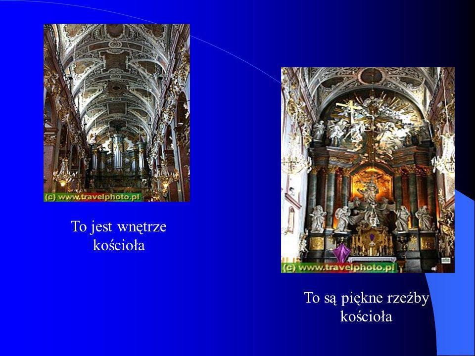To jest wnętrze kościoła