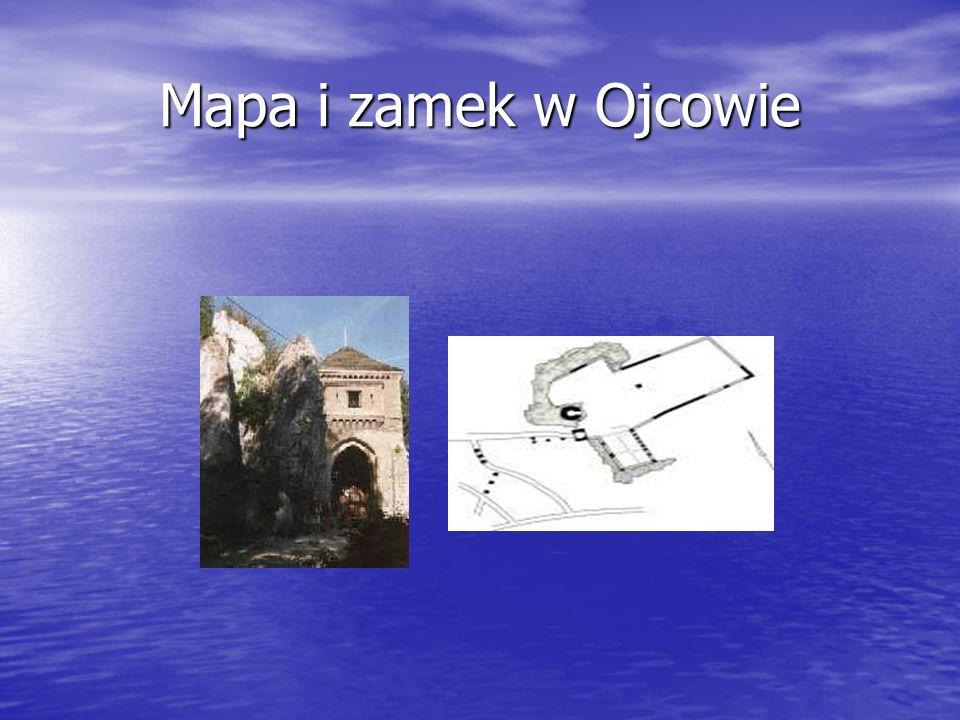 Mapa i zamek w Ojcowie