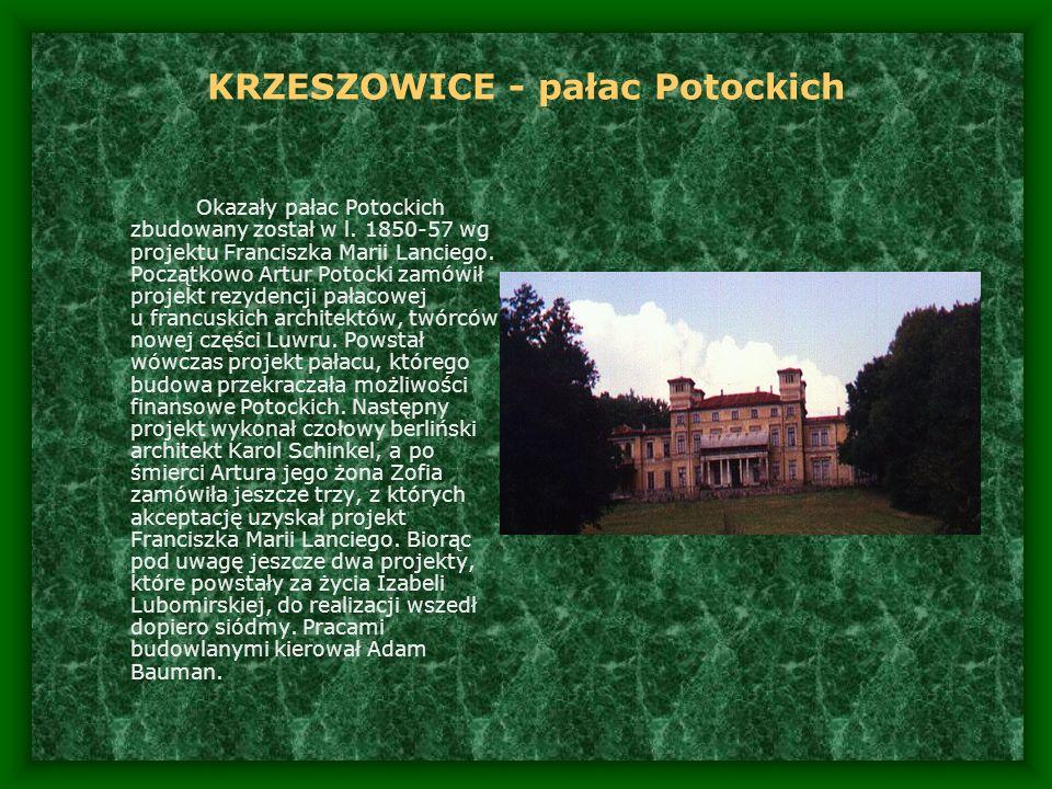 KRZESZOWICE - pałac Potockich