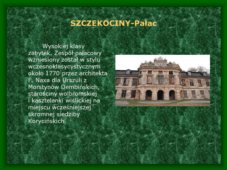 SZCZEKOCINY-Pałac
