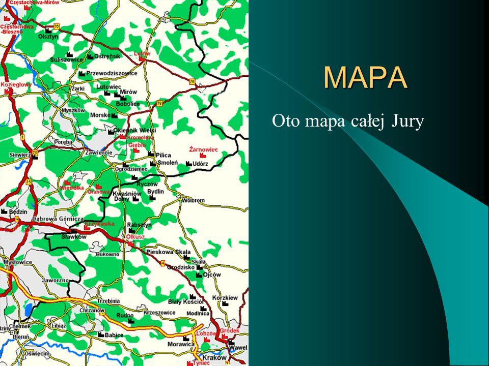 MAPA Oto mapa całej Jury