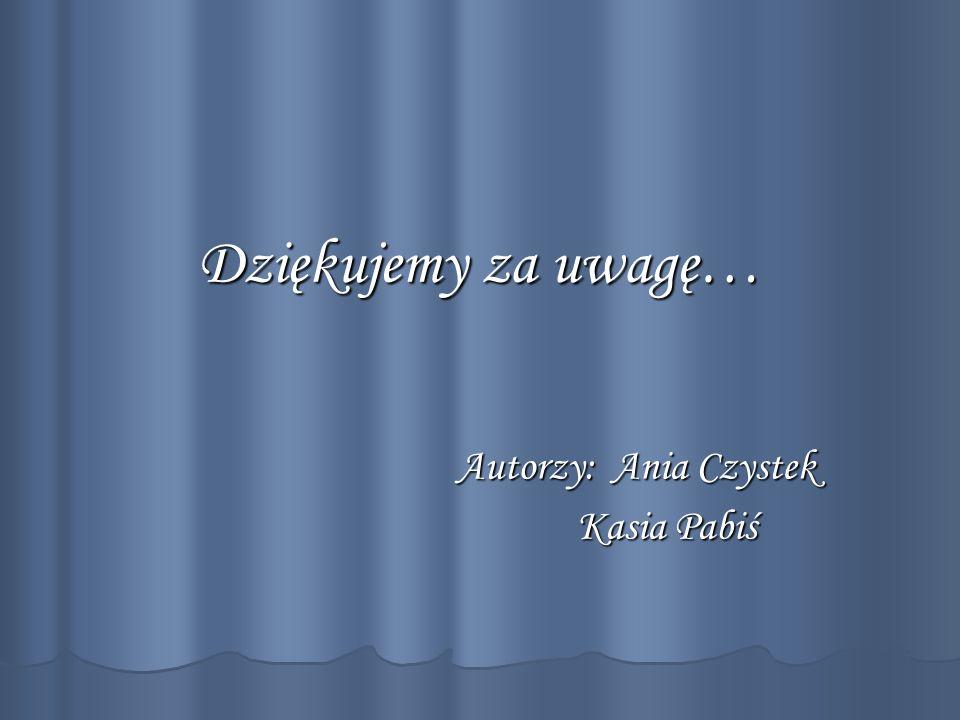 Autorzy: Ania Czystek Kasia Pabiś