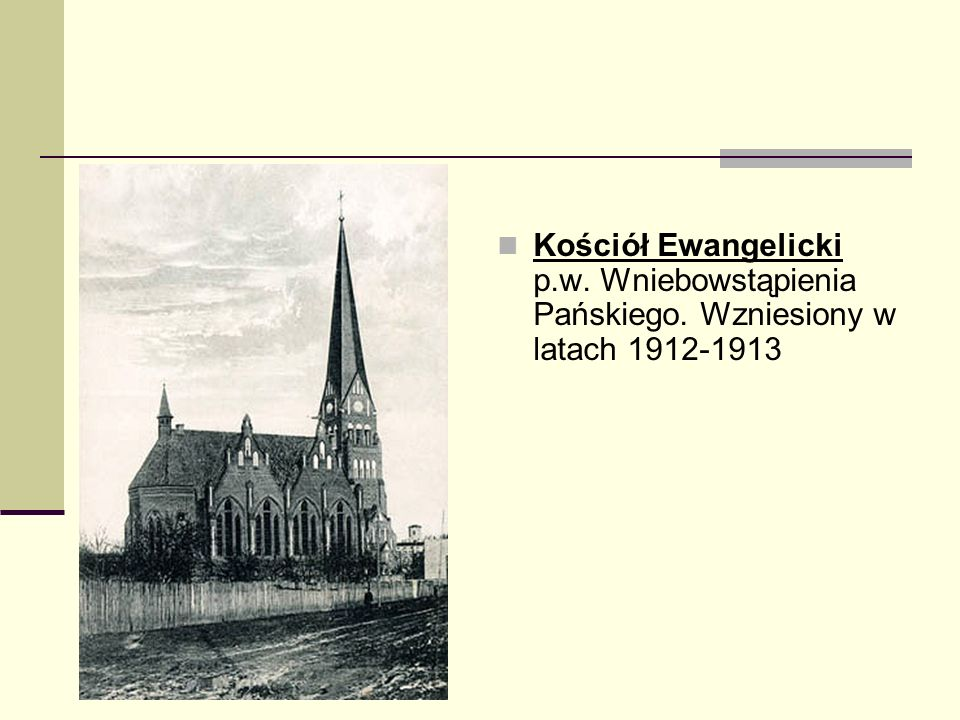 Kościół Ewangelicki p. w. Wniebowstąpienia Pańskiego