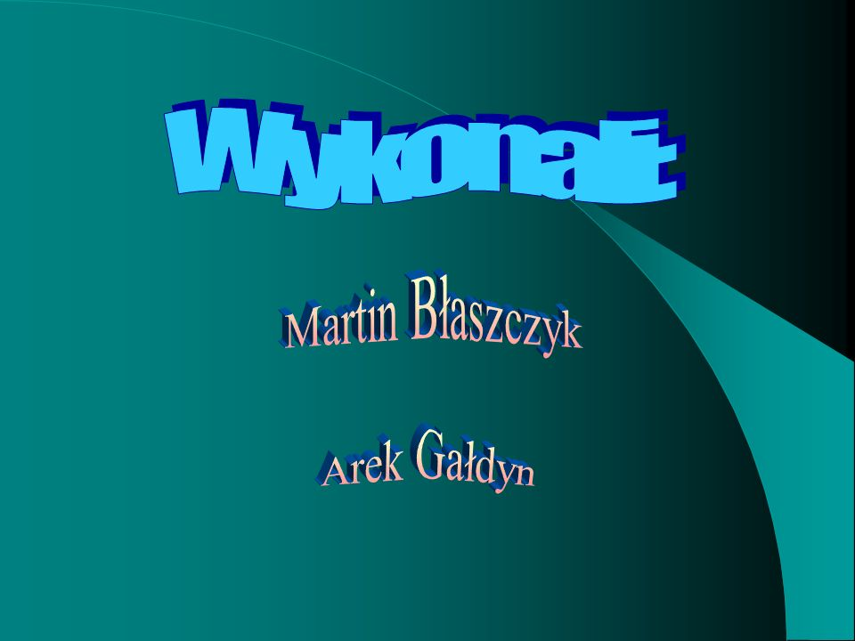 Wykonali: Martin Błaszczyk Arek Gałdyn