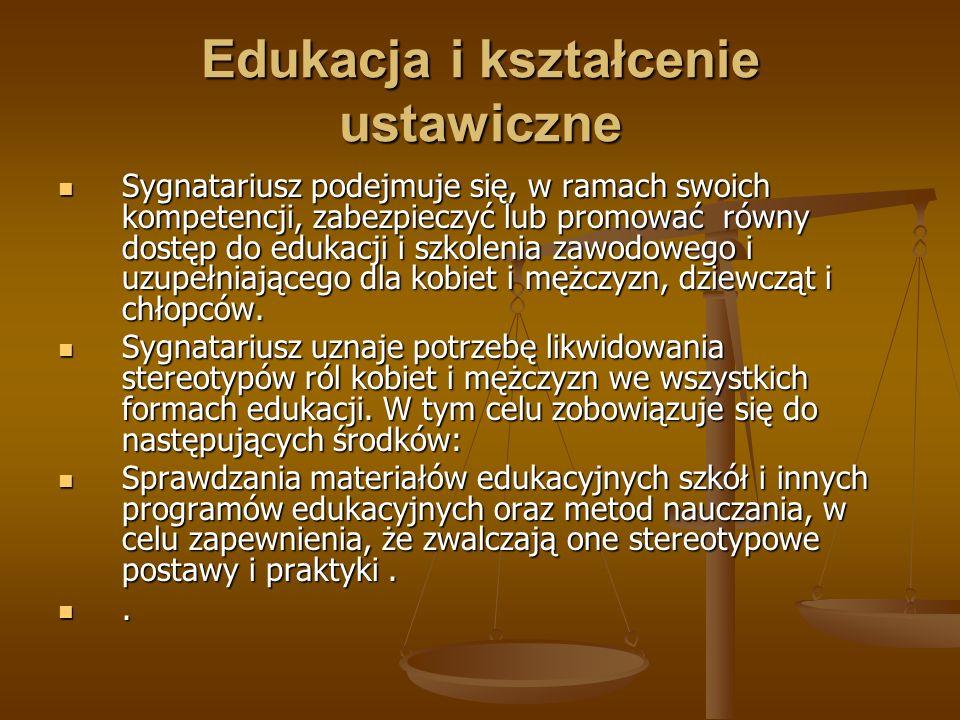 Edukacja i kształcenie ustawiczne