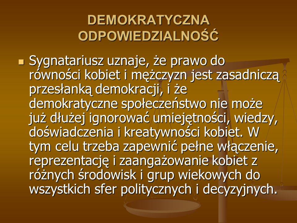 DEMOKRATYCZNA ODPOWIEDZIALNOŚĆ