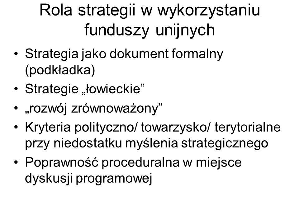 Rola strategii w wykorzystaniu funduszy unijnych