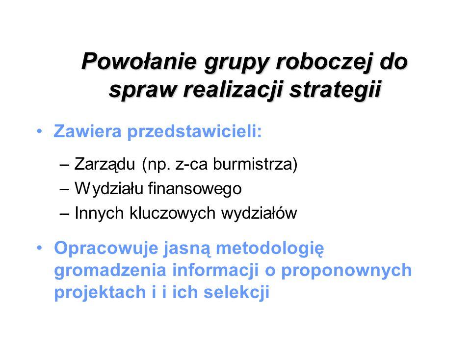 Powołanie grupy roboczej do spraw realizacji strategii