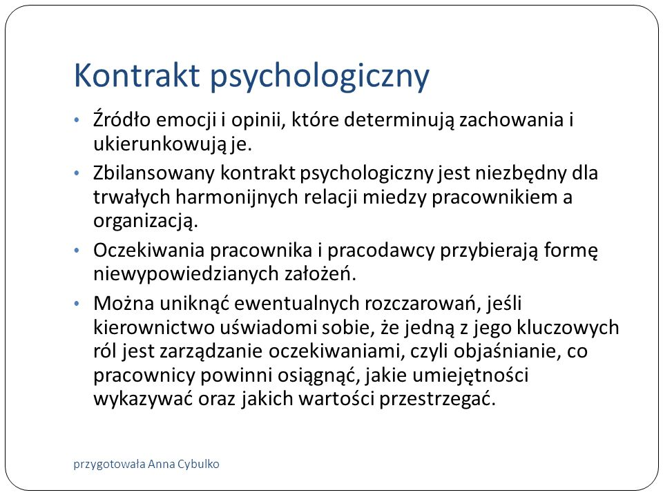 Kontrakt psychologiczny