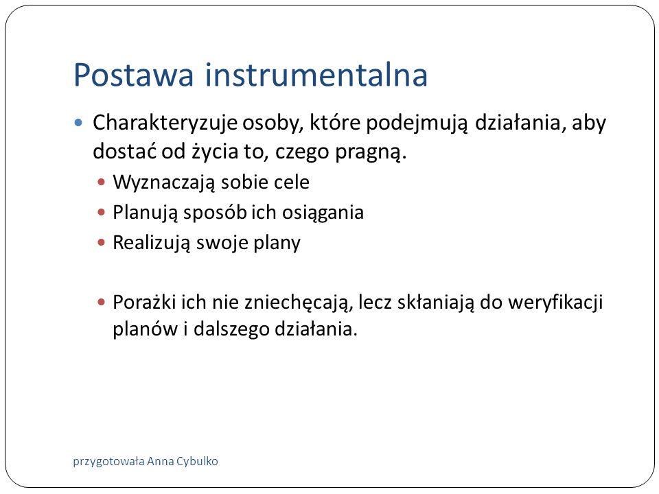 Postawa instrumentalna