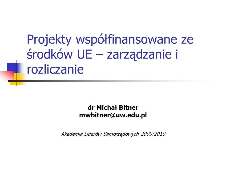 Projekty współfinansowane ze środków UE – zarządzanie i rozliczanie