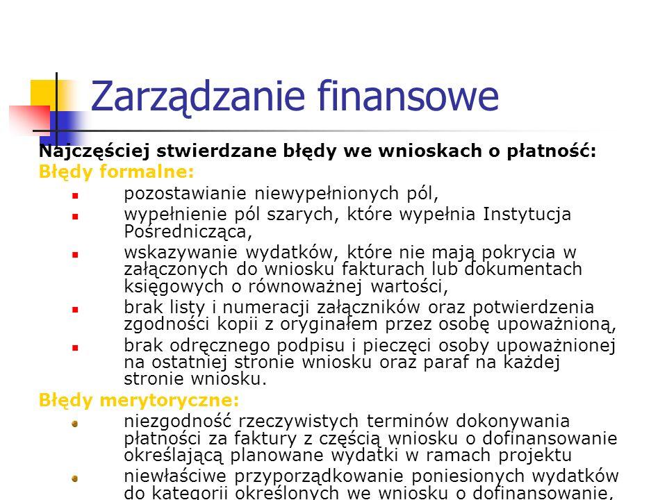 Zarządzanie finansowe