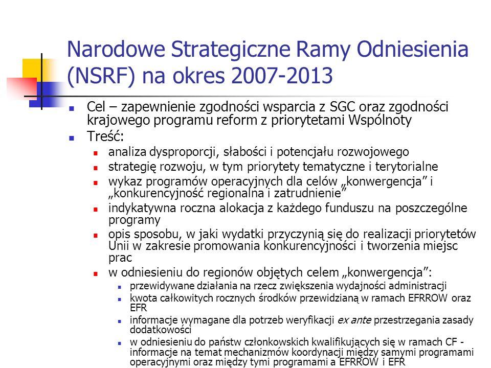 Narodowe Strategiczne Ramy Odniesienia (NSRF) na okres 2007-2013