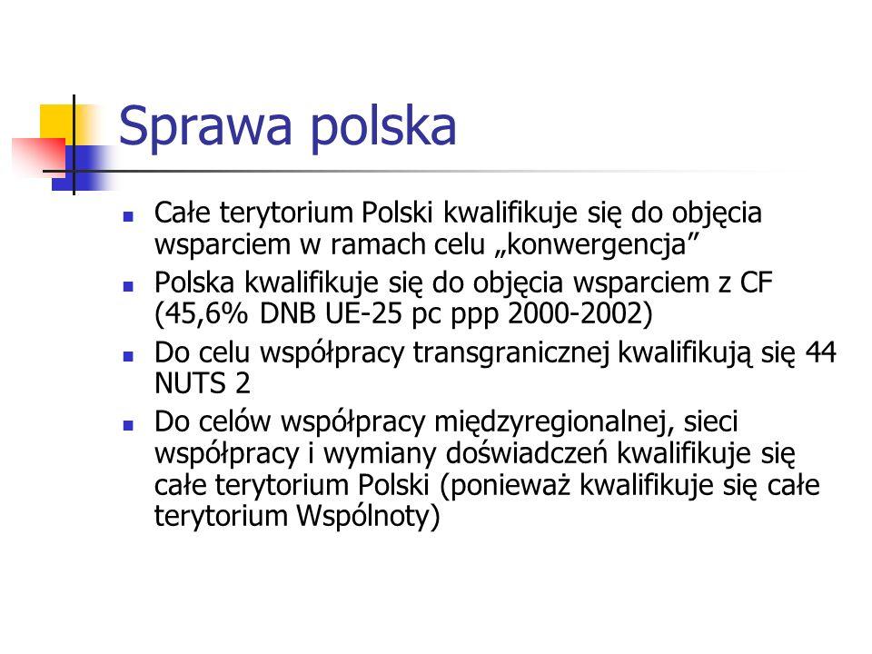 """Sprawa polska Całe terytorium Polski kwalifikuje się do objęcia wsparciem w ramach celu """"konwergencja"""