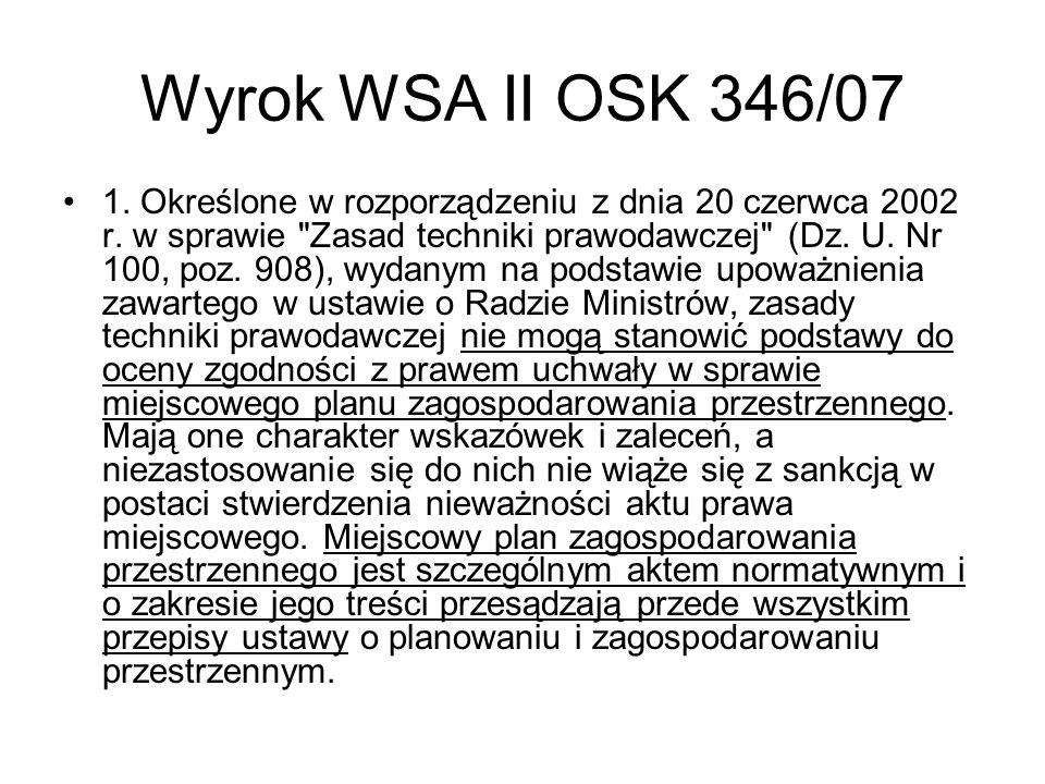 Wyrok WSA II OSK 346/07
