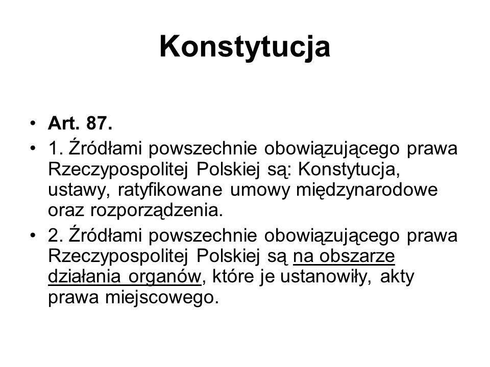 Konstytucja Art. 87.