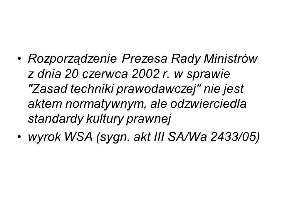 Rozporządzenie Prezesa Rady Ministrów z dnia 20 czerwca 2002 r