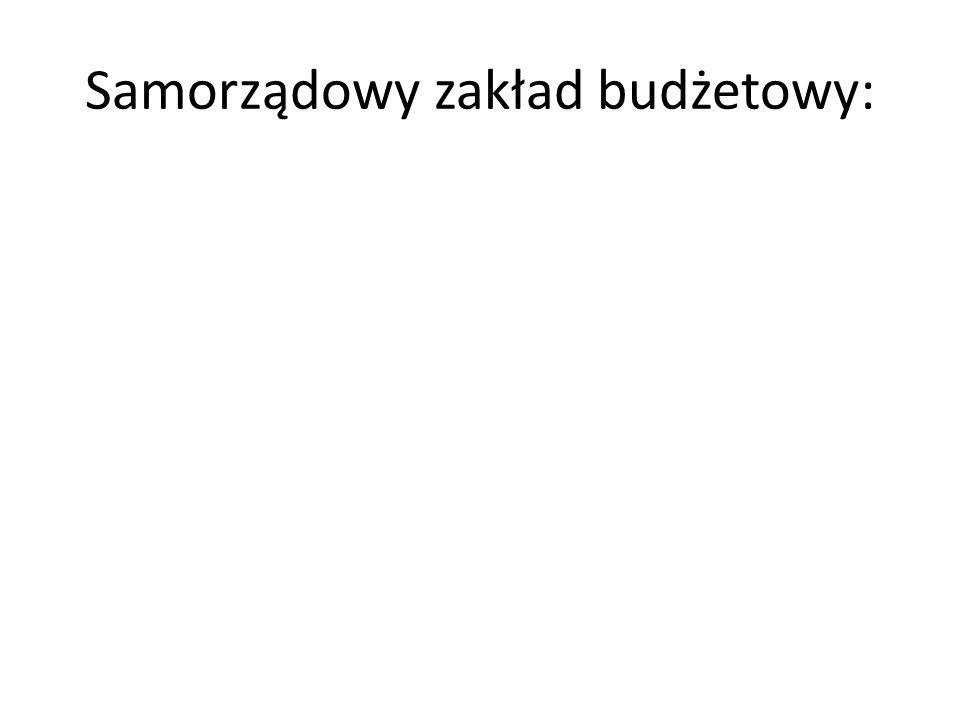 Samorządowy zakład budżetowy: