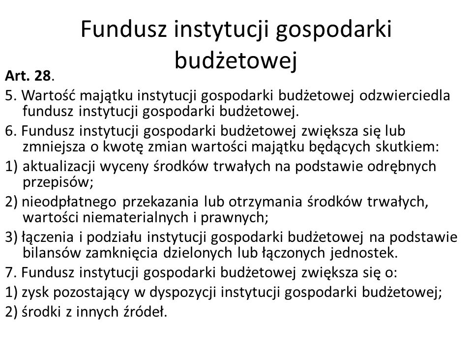 Fundusz instytucji gospodarki budżetowej