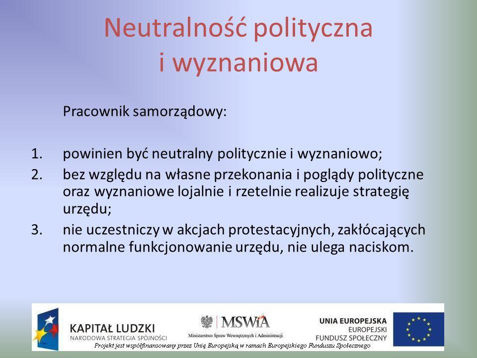 Neutralność polityczna i wyznaniowa