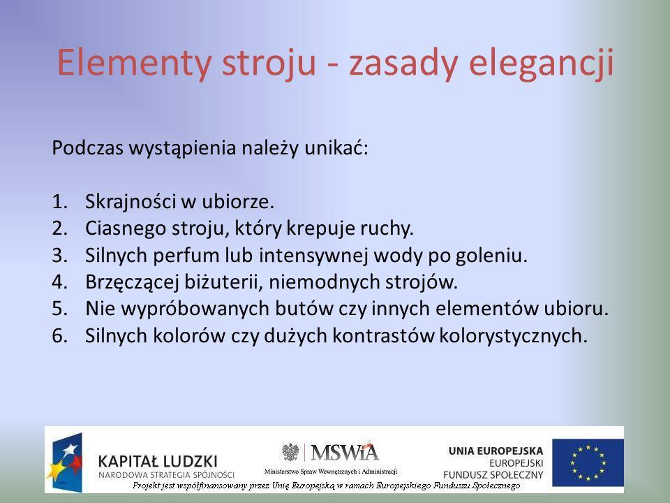 Elementy stroju - zasady elegancji
