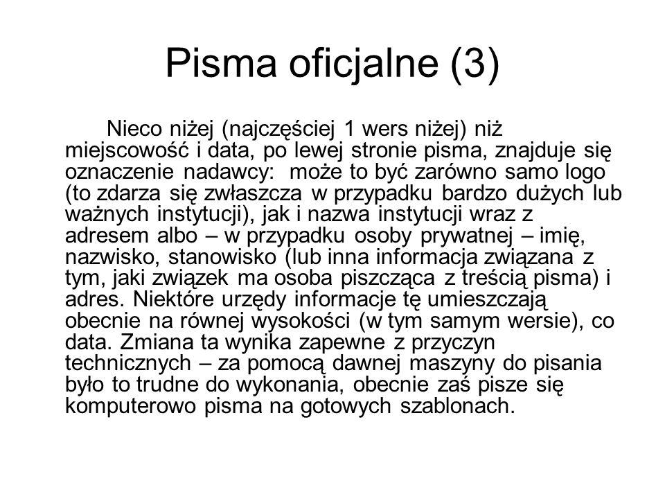 Pisma oficjalne (3)