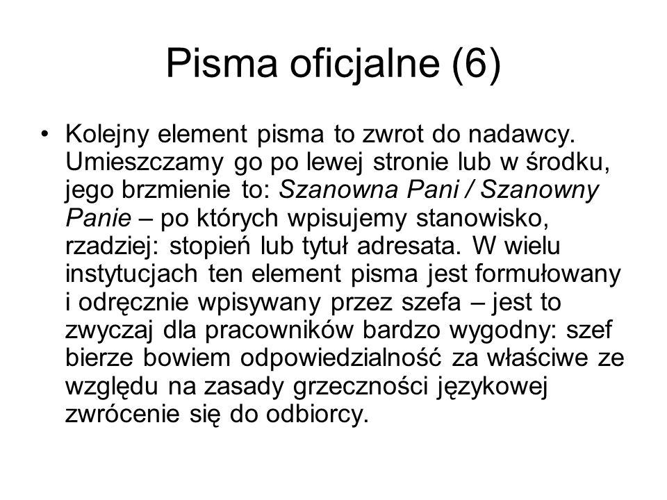 Pisma oficjalne (6)