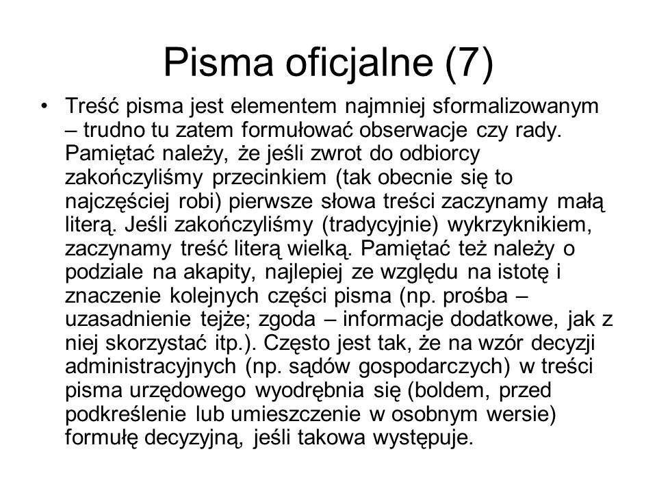 Pisma oficjalne (7)