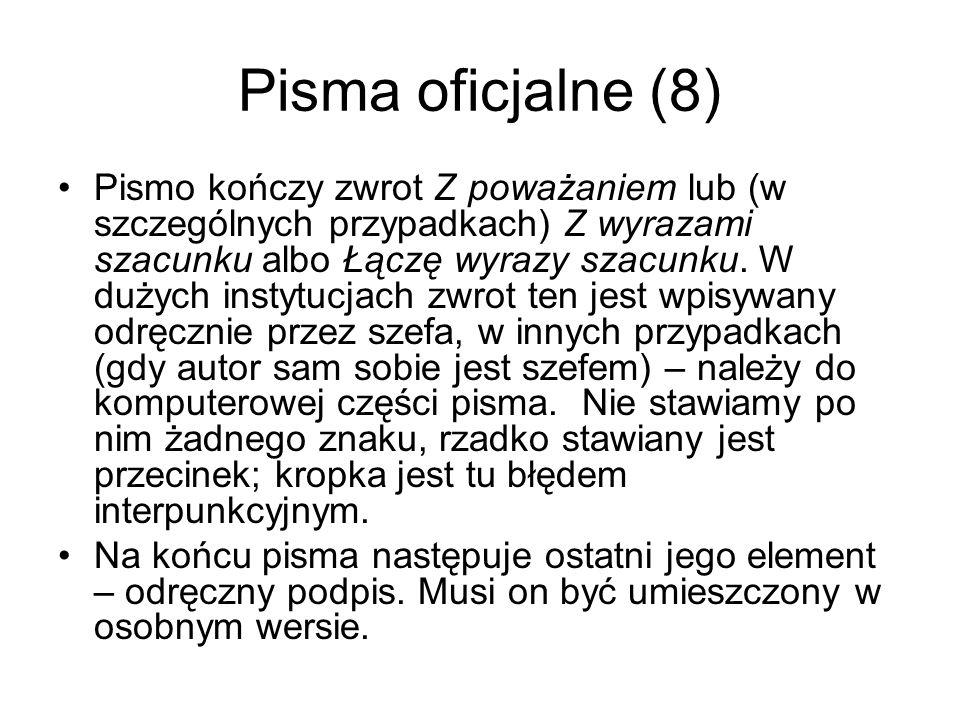 Pisma oficjalne (8)