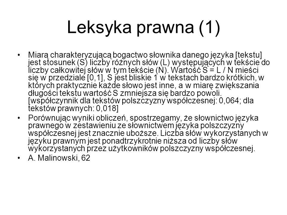 Leksyka prawna (1)