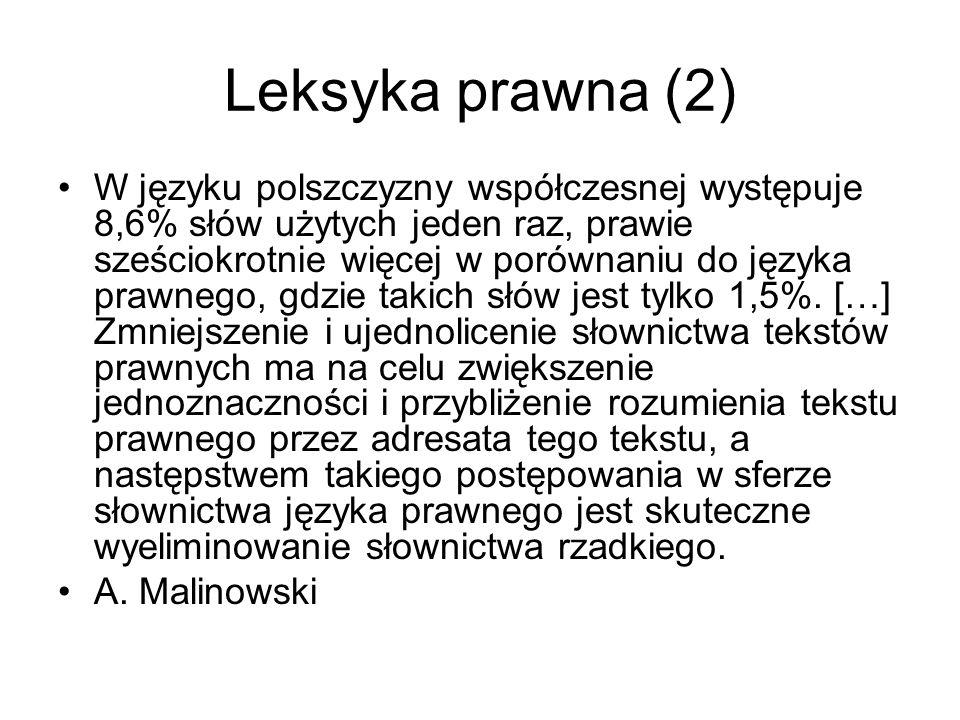 Leksyka prawna (2)