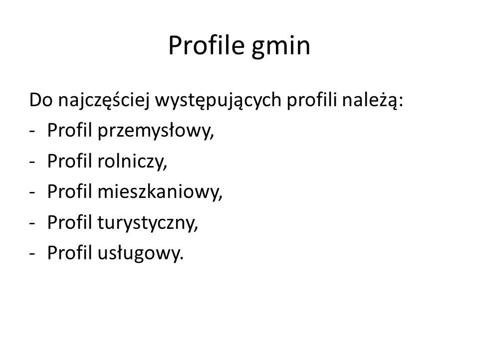 Profile gmin Do najczęściej występujących profili należą: