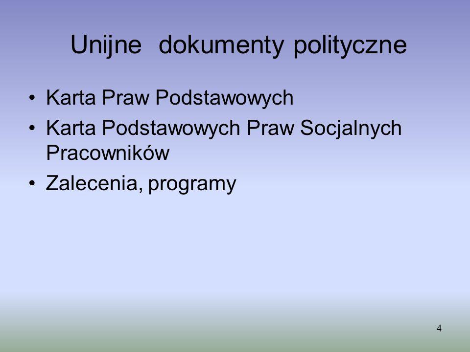 Unijne dokumenty polityczne