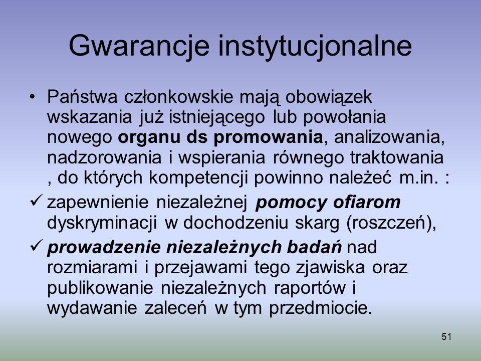 Gwarancje instytucjonalne