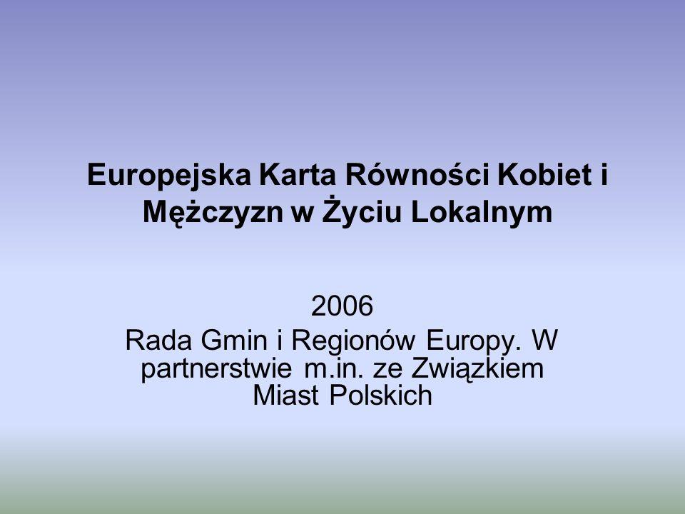 Europejska Karta Równości Kobiet i Mężczyzn w Życiu Lokalnym