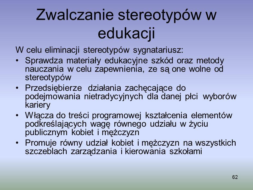 Zwalczanie stereotypów w edukacji