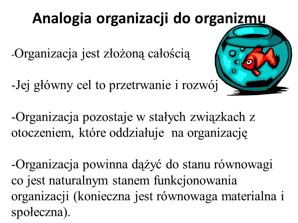 Analogia organizacji do organizmu