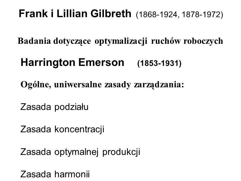 Frank i Lillian Gilbreth (1868-1924, 1878-1972)
