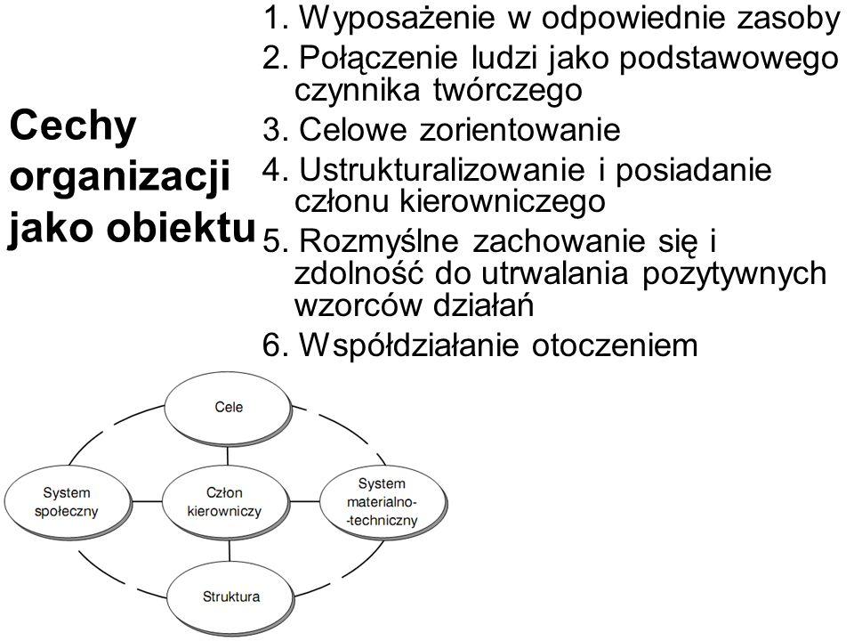 Cechy organizacji jako obiektu