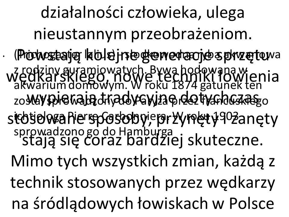 Wędkarstwo jak wiele innych dziedzin działalności człowieka, ulega nieustannym przeobrażeniom. Powstają kolejne generacje sprzętu wędkarskiego, nowe techniki łowienia wypierają tradycyjne dotychczas stosowane sposoby, przynęty i zanęty stają się coraz bardziej skuteczne. Mimo tych wszystkich zmian, każdą z technik stosowanych przez wędkarzy na śródlądowych łowiskach w Polsce można zaklasyfikować do jednego z trzech, znanych od dawna, podstawowych rodzajów wędkarstwa: spinningowego, muchowego lub jeszcze nie tak dawno w latach 70-tych, każdy bez wahania odpowiedziałby: gruntowego . Jednak określenie to zostało ostatnio wyparte (przede wszystkim w publikacjach prasowych) przez termin spławikowe . Stało się to prawdopodobnie za sprawą doskonale propagujących sport wędkarski zawodów, nazywanych kiedyś gruntowymi, lecz obecnie przemianowanych na spławikowe, ponieważ w Polsce jedynym dopuszczonym na zawodach sprzętem była i jest nadal wędka ze spławikiem. Wędkarstwo spławikowe jest jednak tylko częścią wędkarstwa gruntowego. Nie ma powodu, aby spośród wielu technik wyróżniać i eksponować akurat łowienie na spławik, traktując je jako najbardziej sportowe. Jest przecież tyle innych, równie ciekawych i skutecznych sposobów wędkowania.