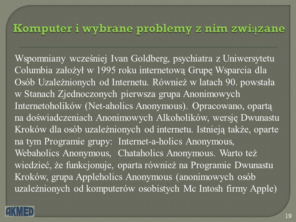 Komputer i wybrane problemy z nim związane